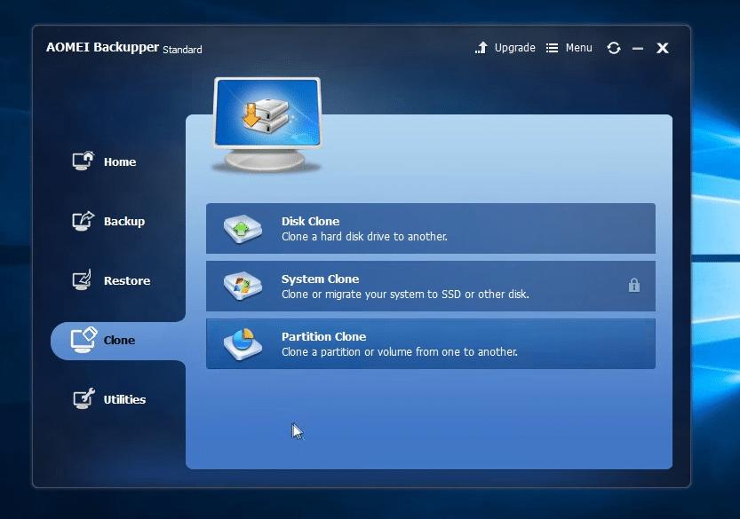 AOMEI Backupper best tool to clone Windows 10