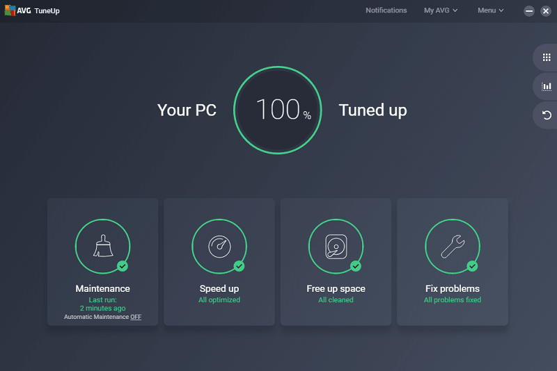 AVG TuneUp W10 optimizer