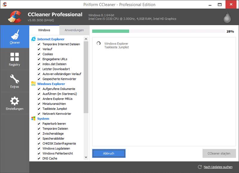CCleaner Windows 10 optimization tool