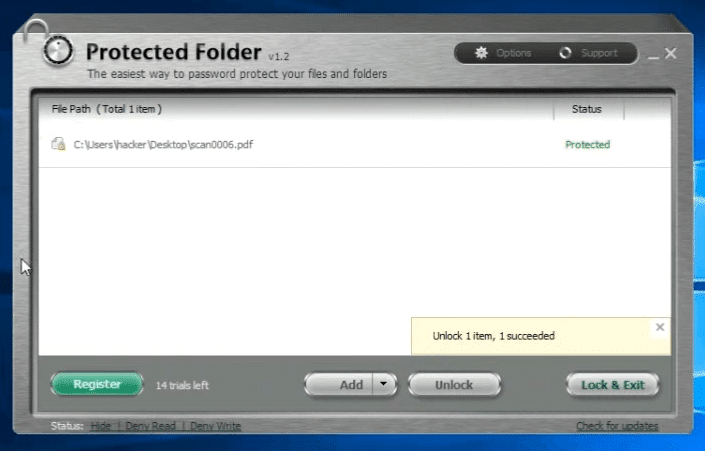 IObit Protected Folder best folder lock for Windows 10