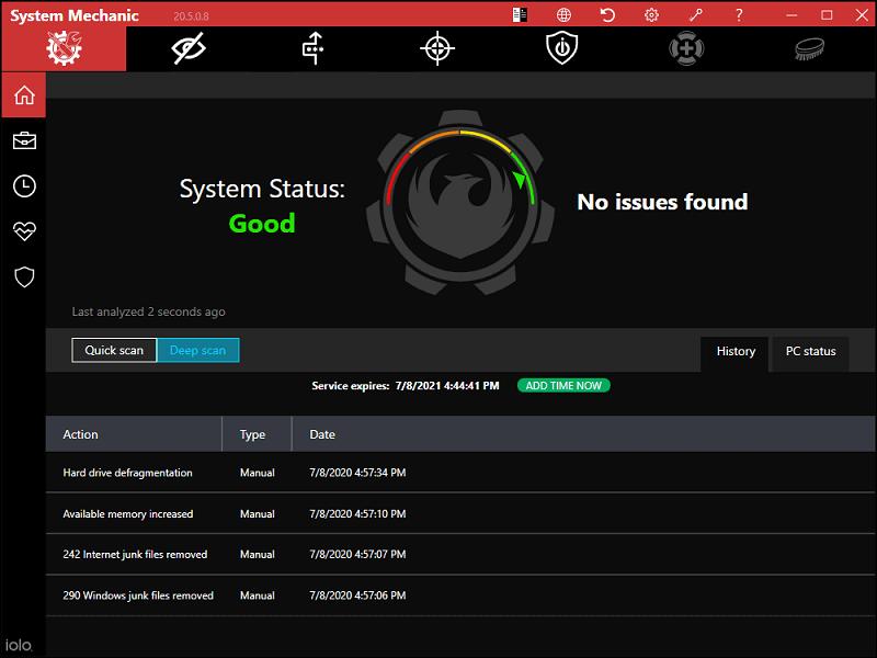 iOLO System Mechanic best Windows 10 optimizer
