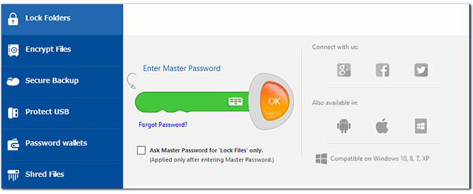 NewSoftwares Folder Lock