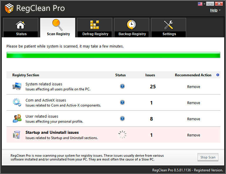 RegClean Pro registry cleaner Windows 10