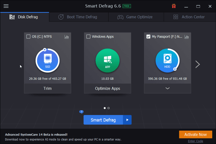Smart Defrag best disk defragmenter