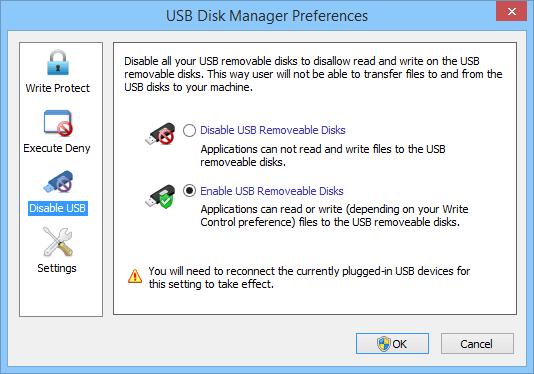 USB Disk Manager USB port blocker software