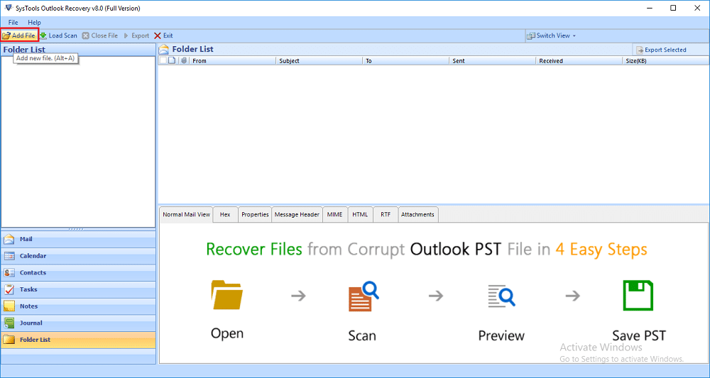 best PST repair software SysTools Outlook Recovery