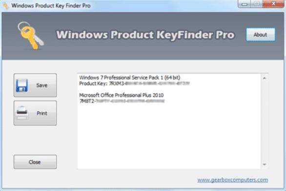 windows product key finder pro
