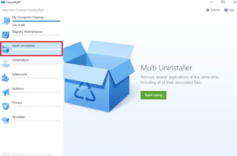 Multi Uninstaller in CleanMyPC
