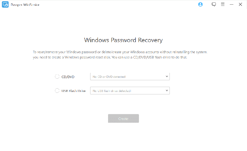 Crack Windows password with Passper Winsenior