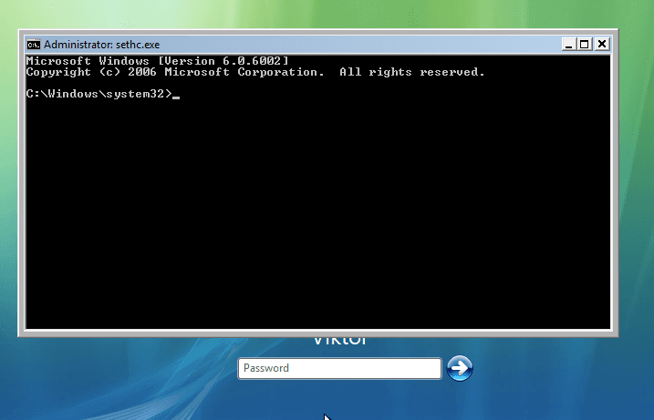 Invite de Commandes avec les droits administrateurs sur Windows Vista