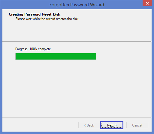 creating Windows 8 password reset disk