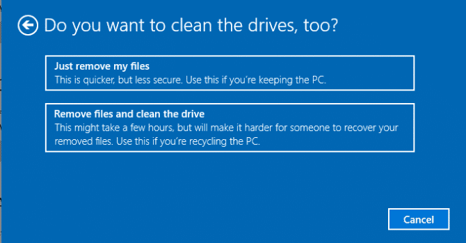 Do you want to clean the drives