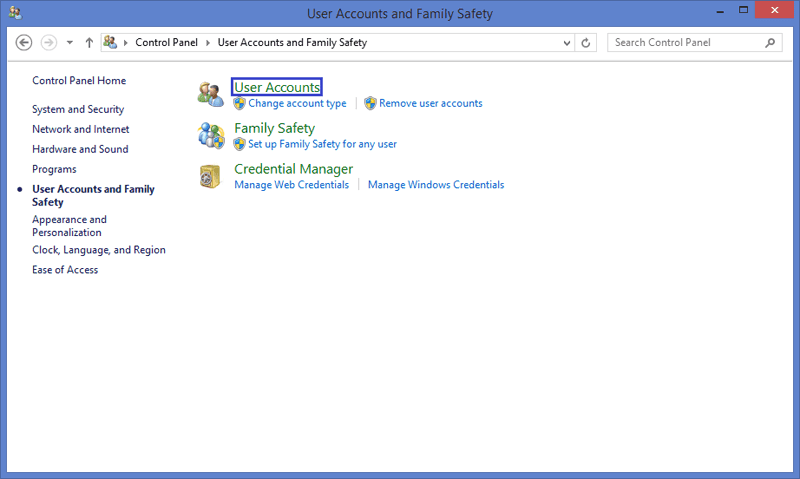 User accounts in Windows 8