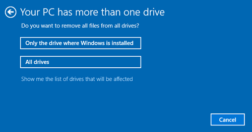 Your PC has more than on drive to remove