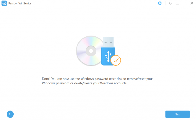 Click next botton to crack Windows password