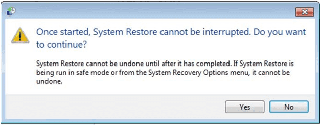 continue to restore Windows to factory settings