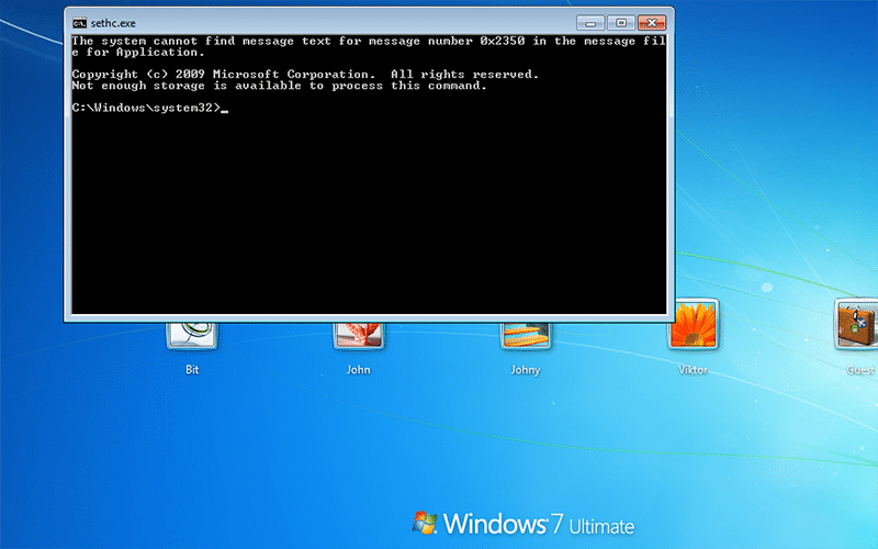 force Command Prompt to open up