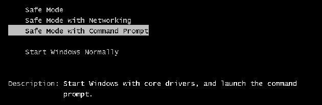 Wählen Sie den Safe Mode with Command Prompt, um Lenovo Laptop zu entsperren