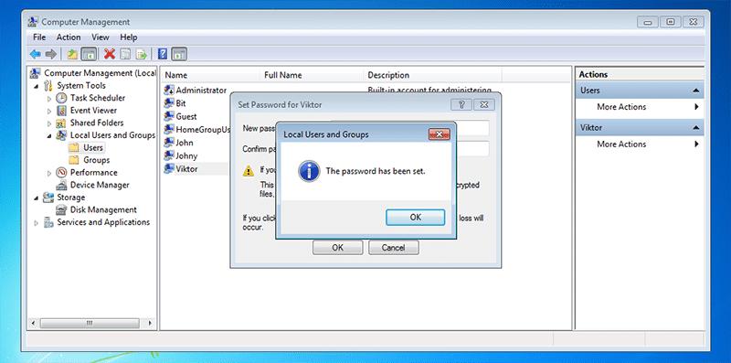 Das Passwort wurde am Laptop festgelegt