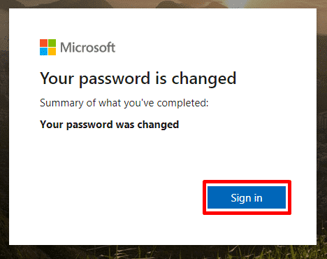 Click sign in to log into your Windows 8/10 by using new password