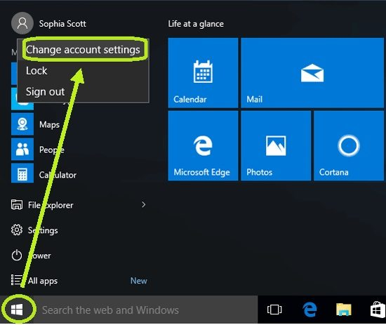 Ändern Sie die Kontoeinstellungen, um das Microsoft-Kontokennwort zurückzusetzen