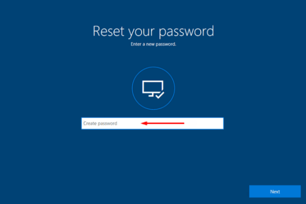 enter new password and login your id with it to reset surface password