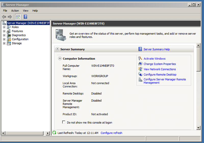 Log in to the Windows server 2008 r2 Administrator account with the newly changed password