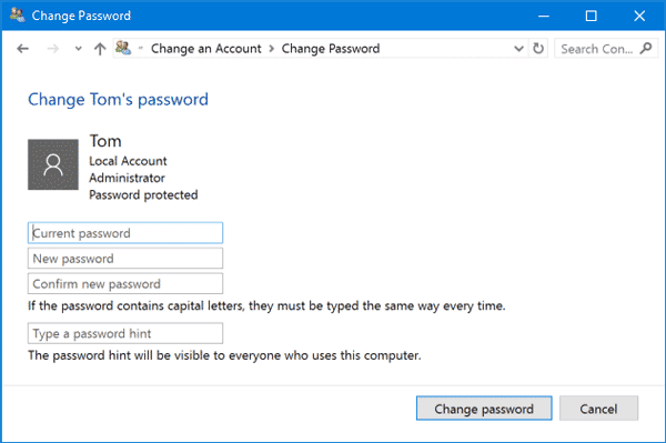 Reset the New Password of Microsoft Surface pro 4