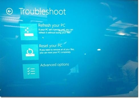 Select Reset this PC to hard reset Microsoft surface pro password