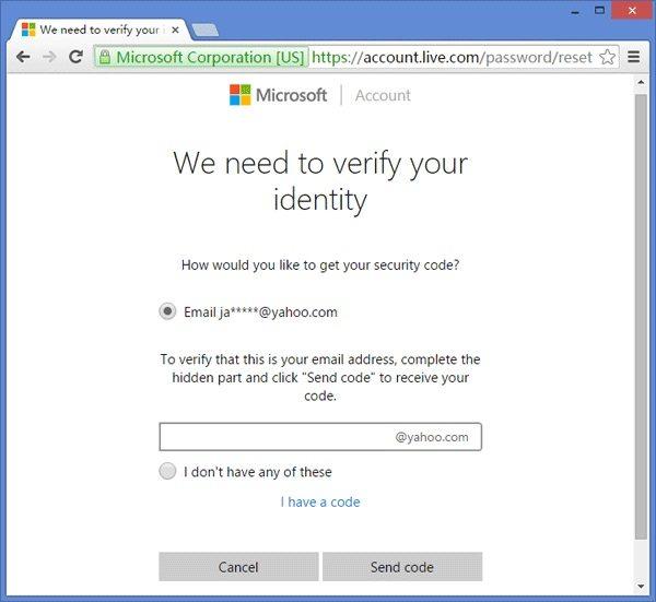 Überprüfen Sie die Microsoft-Konto-ID
