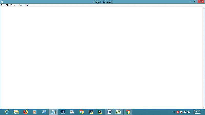 créer un nouveau fichier notepad pour le contournement du mot de passe rar