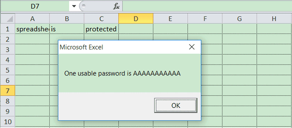 unlock Excel spreadsheet successfully