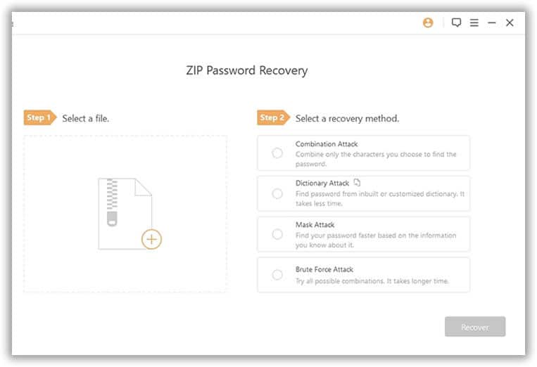passper zip file recovery import the file