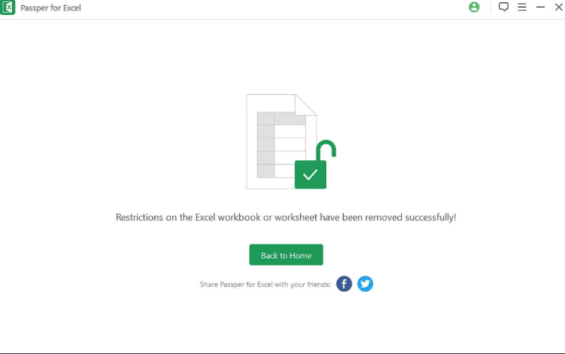 excel spreadsheet password restriction successfully removed