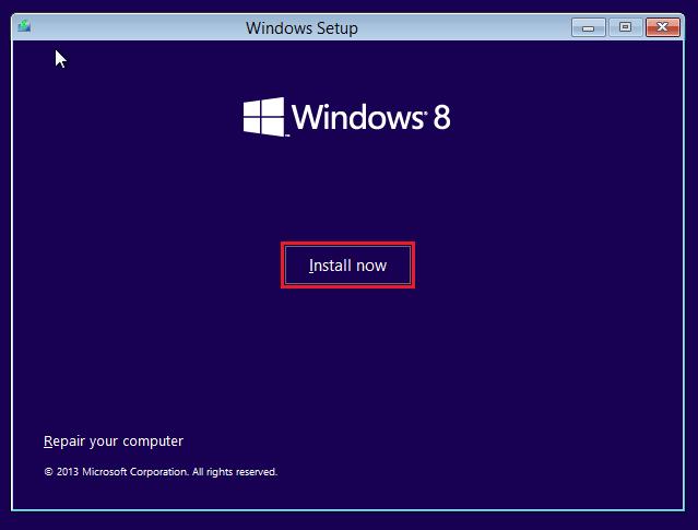 Klicken Sie in Windows 8.1 auf die Schaltfläche