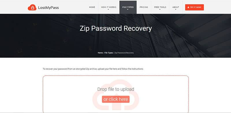 LostMyPass zip password recovery