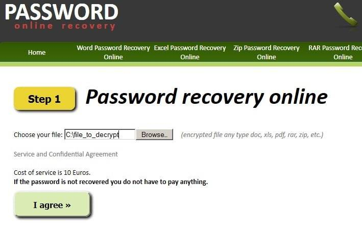 MS Word password recovery Online