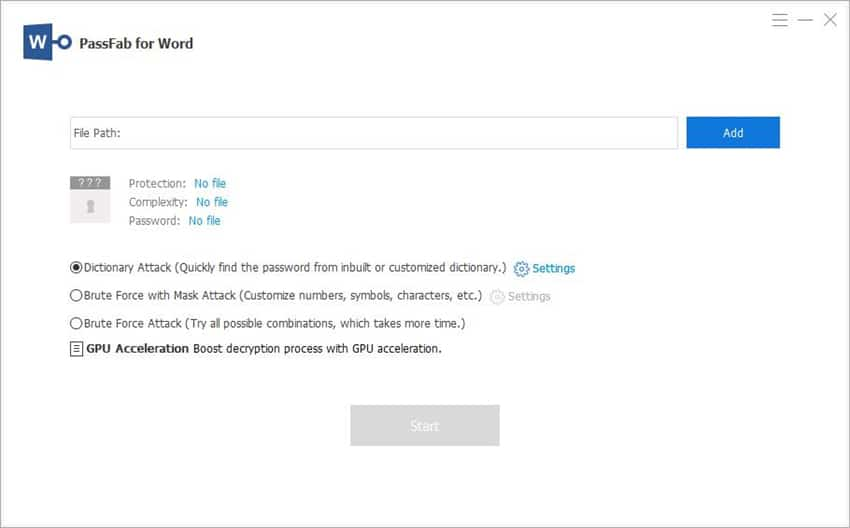 Recover Word document password with PassFab for Word