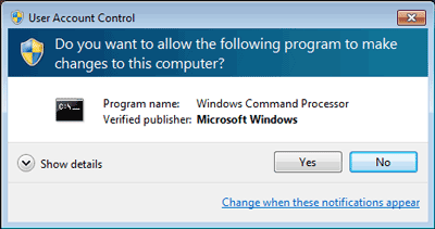 Permission to start the cmd to unlock Windows 7 password