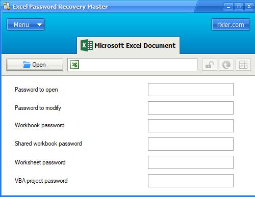 Rixler Excel Password Recovery Master