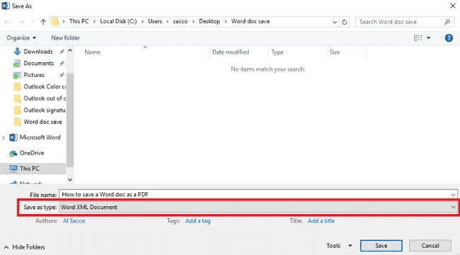 Save the file as an XML file to unlock Word file