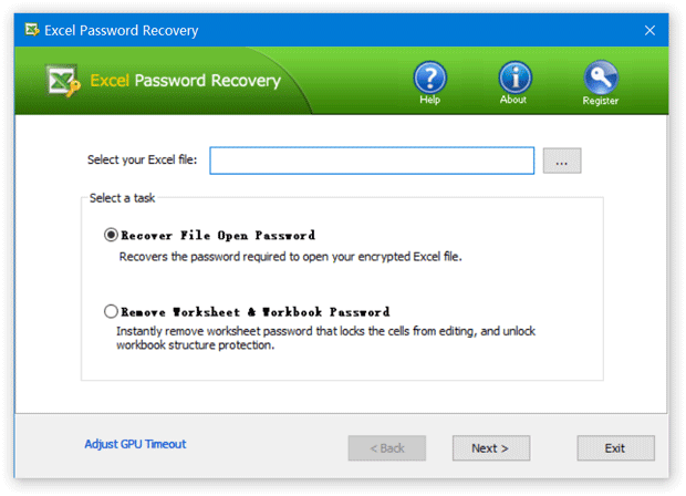 Top-Password Excel Password Recovery