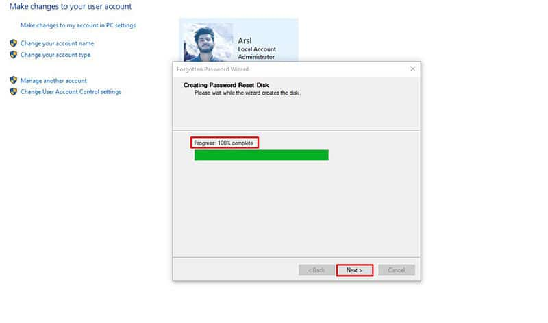 Wait for Hp recovery disk creating