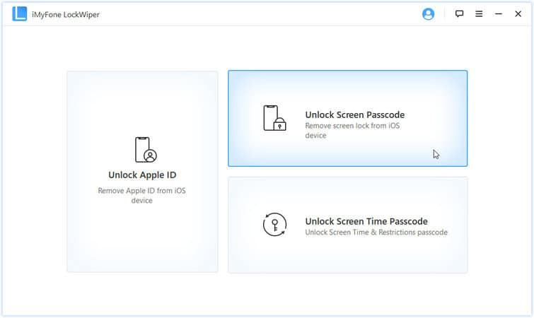 choose unlock screen passcode option to unlock disabled iPad