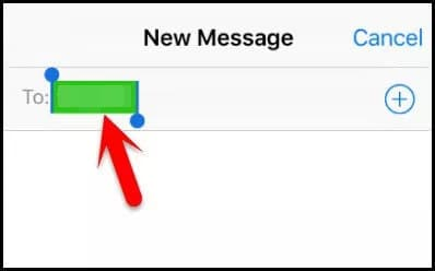 iPhone send new message