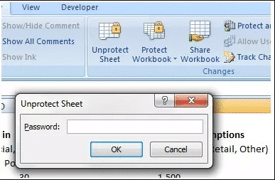 open password protected excel file with known password
