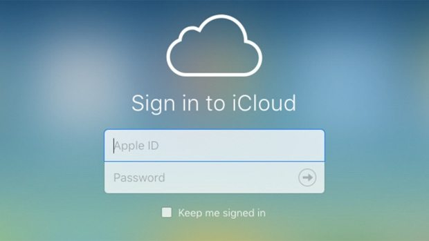 Log in to your iCloud account