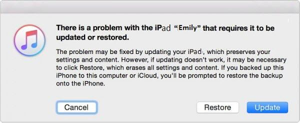 "Choose the ""Restore"" option while locked out of ipad"