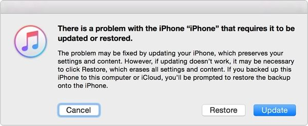 restore iphone with iTunes when in recovery mode