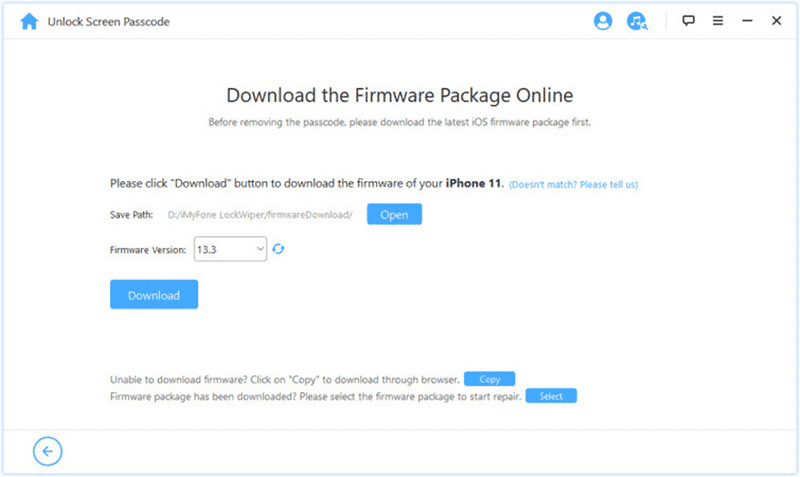 download the firmware package for disabled iPod guide